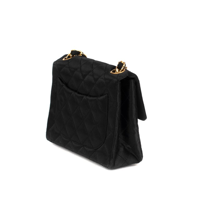 21307f4e025a Women's Chanel Black silk Mini Handbag For Sale