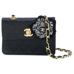 Chanel Black Silk Vintage Bag, 1990s