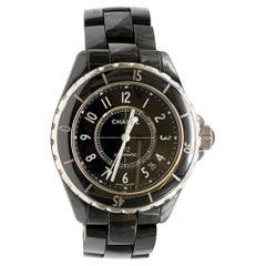 Chanel Black & Silver J12 200 m water resistance Automatic Watch