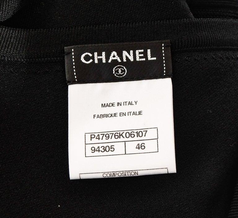 Chanel Black Sleeveless Dress with Peek a boo V Back For Sale 1