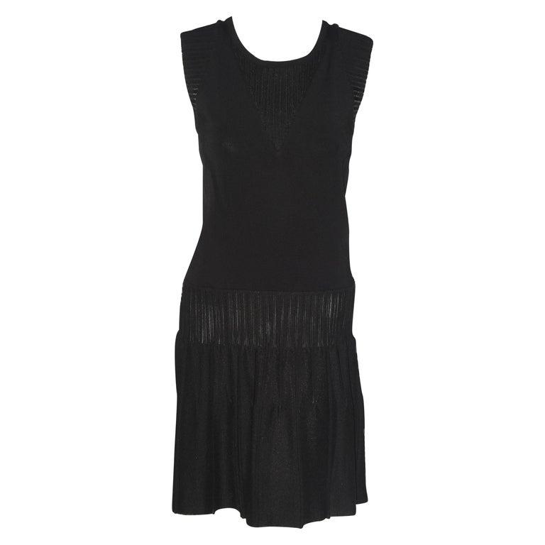Chanel Black Sleeveless Dress with Peek a boo V Back For Sale