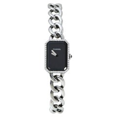 Chanel Black Stainless Steel Diamond Premiere Chain Women's Wristwatch 22 X 16MM