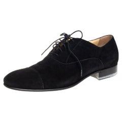 Chanel Black Suede Oxfords Size 43