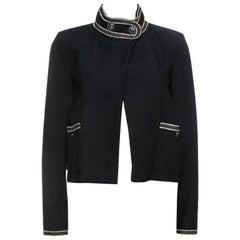 Chanel Black Tweed Boucle Jacket M