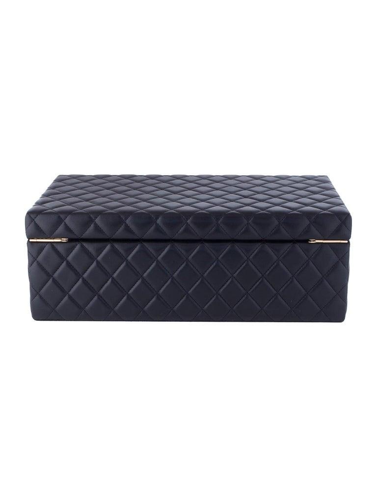Chanel Black Vanity Case Limited Edition Rare Jewelry Box Home Decor Cosmetic  In Good Condition For Sale In Miami, FL