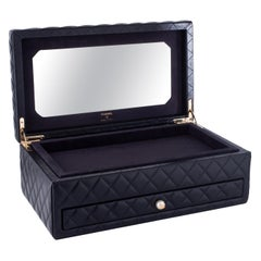 Chanel Black Vanity Case Limited Edition Rare Jewelry Box Home Decor Cosmetic
