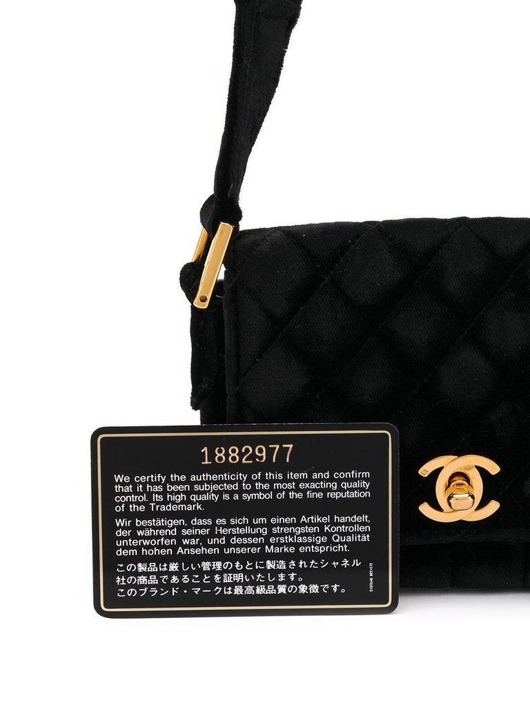 Chanel Black Velvet Mini Shoulder Bag For Sale 2