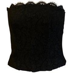 Chanel Black Venetian Lace w/Eyelash Trim 38Fr