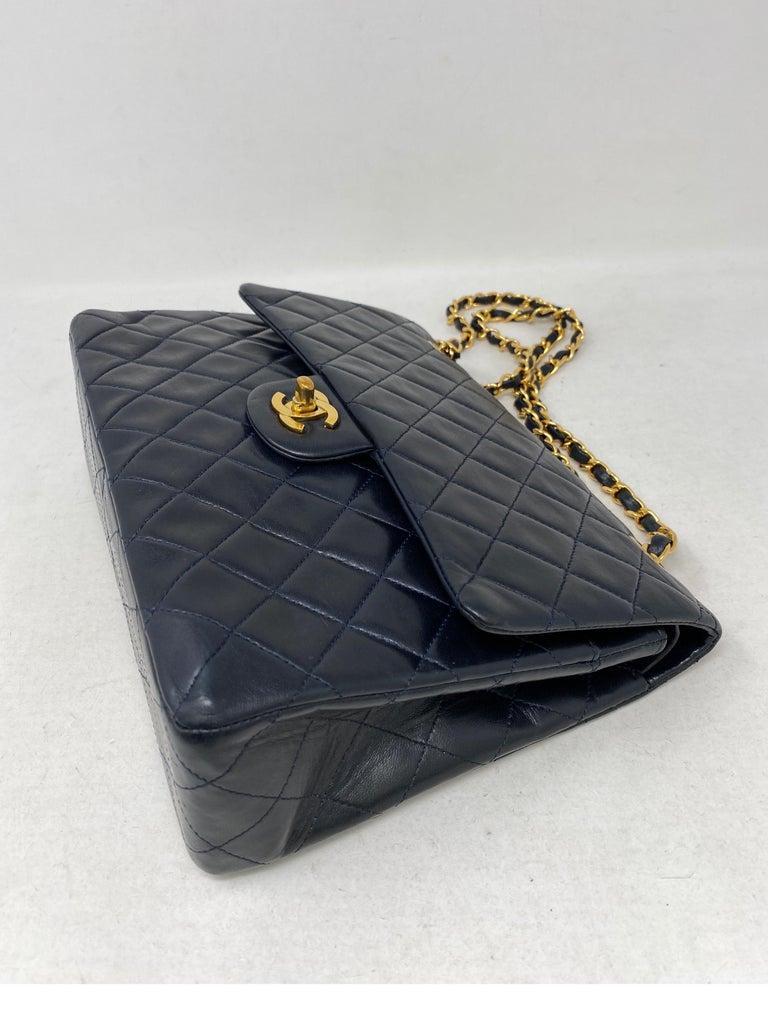 Chanel Black Vintage Large Double Flap  For Sale 6