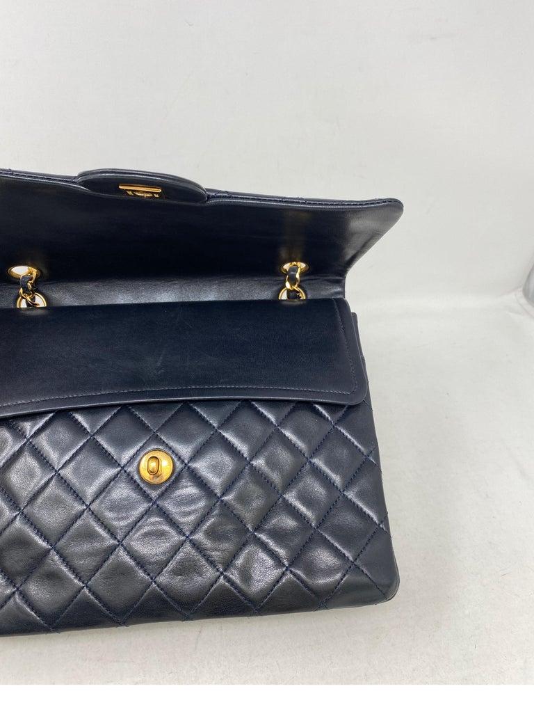 Chanel Black Vintage Large Double Flap  For Sale 7