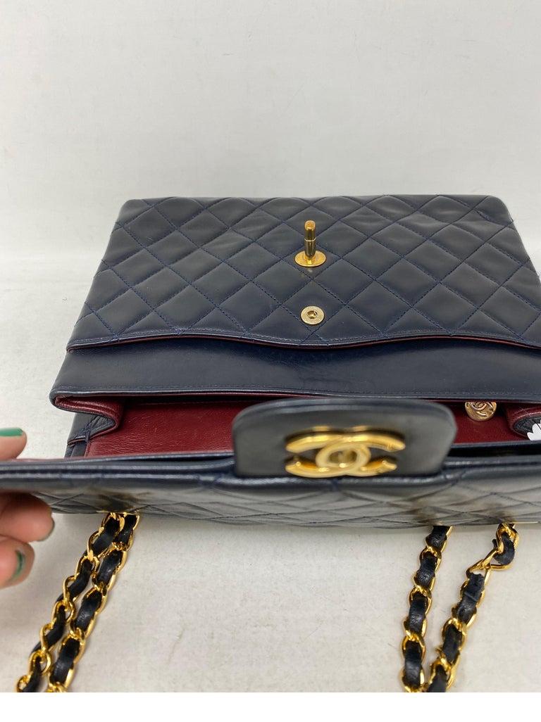 Chanel Black Vintage Large Double Flap  For Sale 9