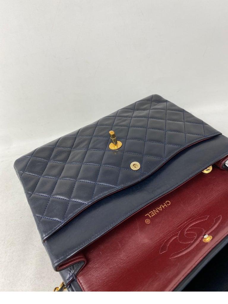 Chanel Black Vintage Large Double Flap  For Sale 10