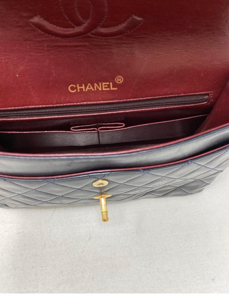 Chanel Black Vintage Large Double Flap  For Sale 11