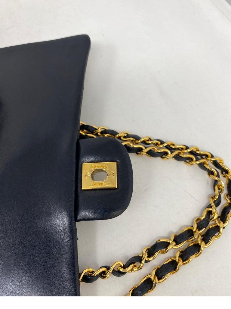 Chanel Black Vintage Large Double Flap  For Sale 13