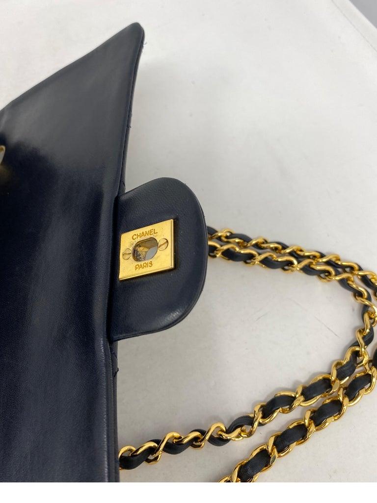 Chanel Black Vintage Large Double Flap  For Sale 14
