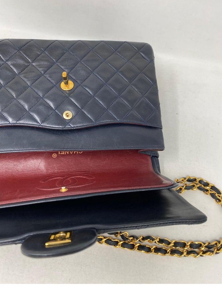 Chanel Black Vintage Large Double Flap  For Sale 15