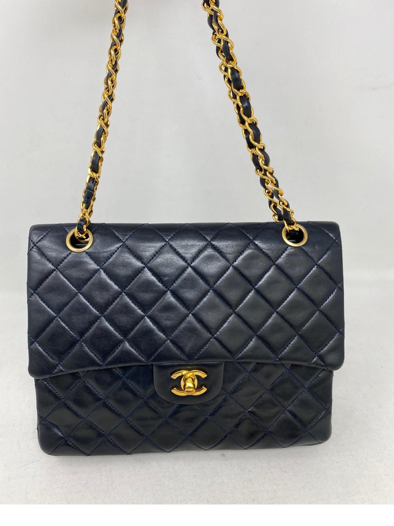 Chanel Black Vintage Large Double Flap  In Good Condition For Sale In Athens, GA