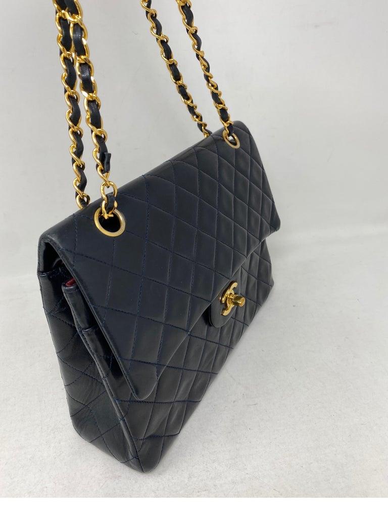 Women's or Men's Chanel Black Vintage Large Double Flap  For Sale
