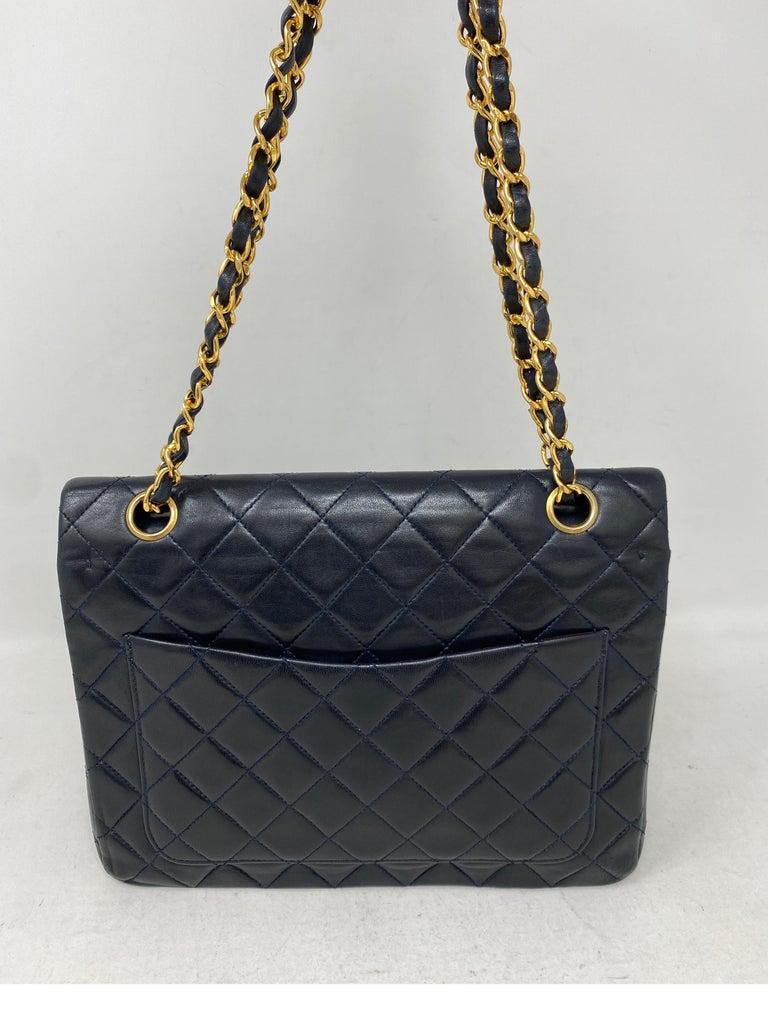 Chanel Black Vintage Large Double Flap  For Sale 2