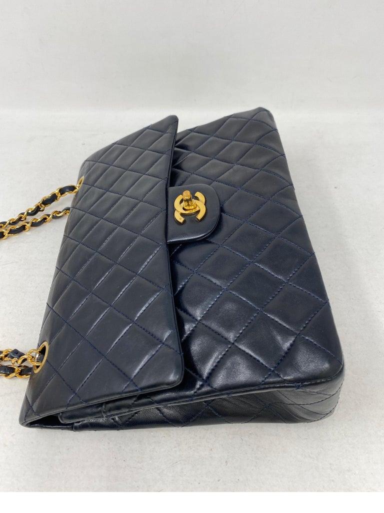 Chanel Black Vintage Large Double Flap  For Sale 3