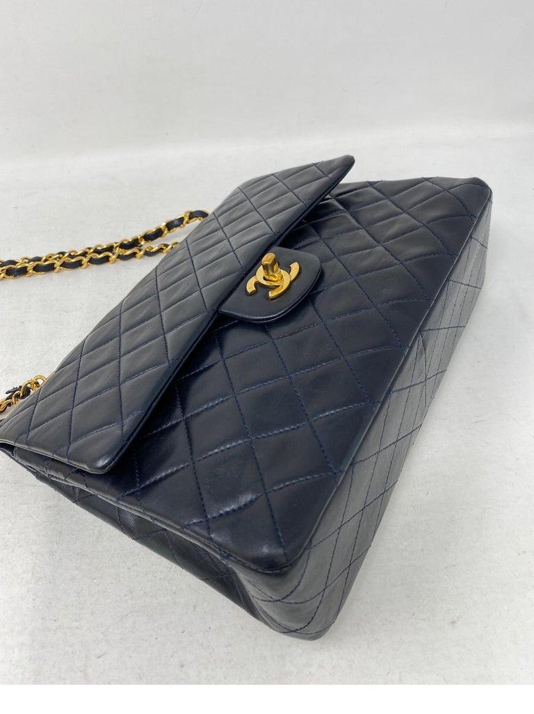 Chanel Black Vintage Large Double Flap  For Sale 4