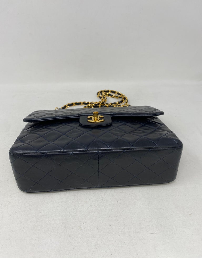 Chanel Black Vintage Large Double Flap  For Sale 5