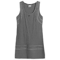 Chanel Black/White Houndstooth Sleeveless Dress sz 38
