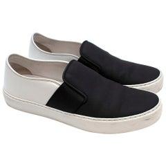Chanel Black & White Slip-on Sneakers  37