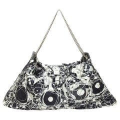 Chanel Black & White Spring 2008 Abstract Print Handbag