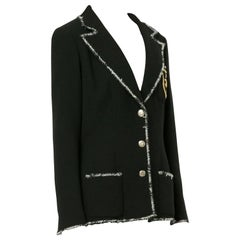 Chanel Black White W Devil Wears Prada Boucle Jacket Perfume Bottle Blazer