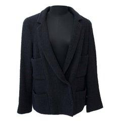 Chanel Black Wool Blazer - Size 42