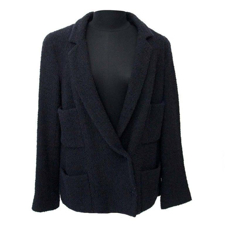 Chanel Black Wool Blazer
