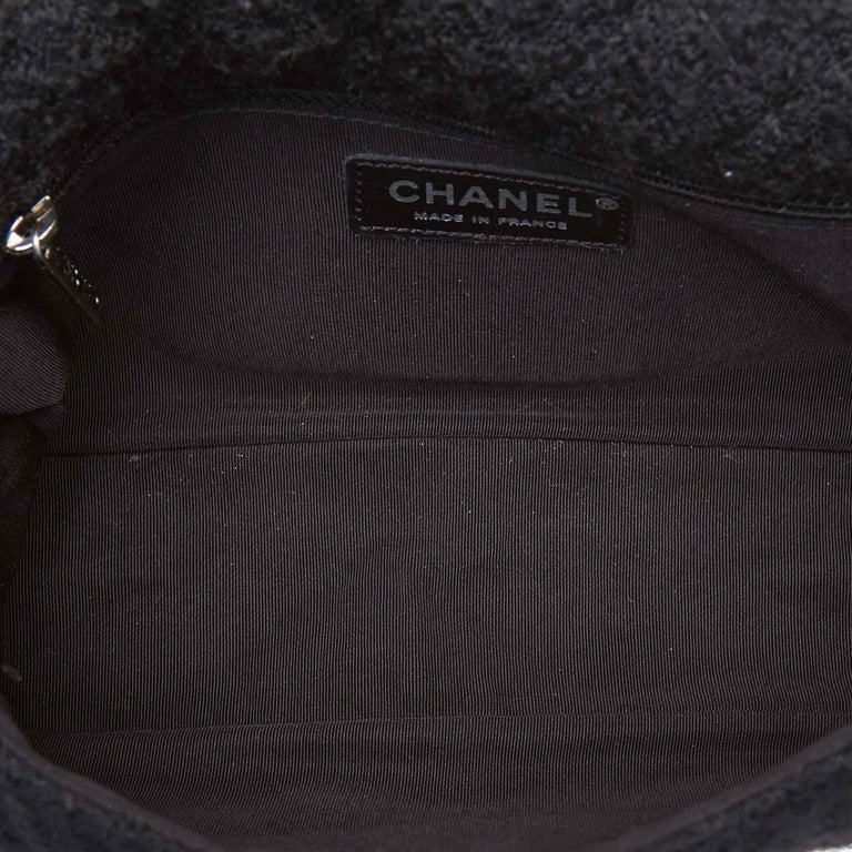 23c9b987dd90 Chanel Black Wool Fabric Reissue Flap Shoulder Bag France For Sale ...