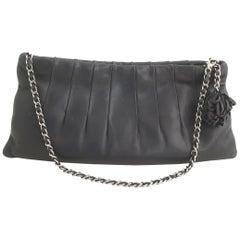 Chanel Black Wristlet Clutch
