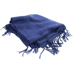 Chanel Blue 15c Cc Logo 12cr0320 Scarf/Wrap