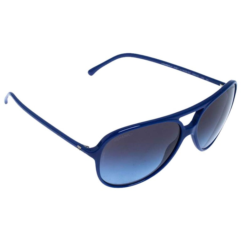 Chanel Blue/Blue Gradient 5287 Aviator Sunglasses For Sale