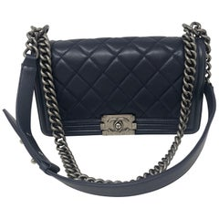 Chanel Blue Boy Medium Bag