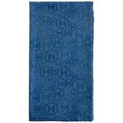 Chanel blue cachemire shawl