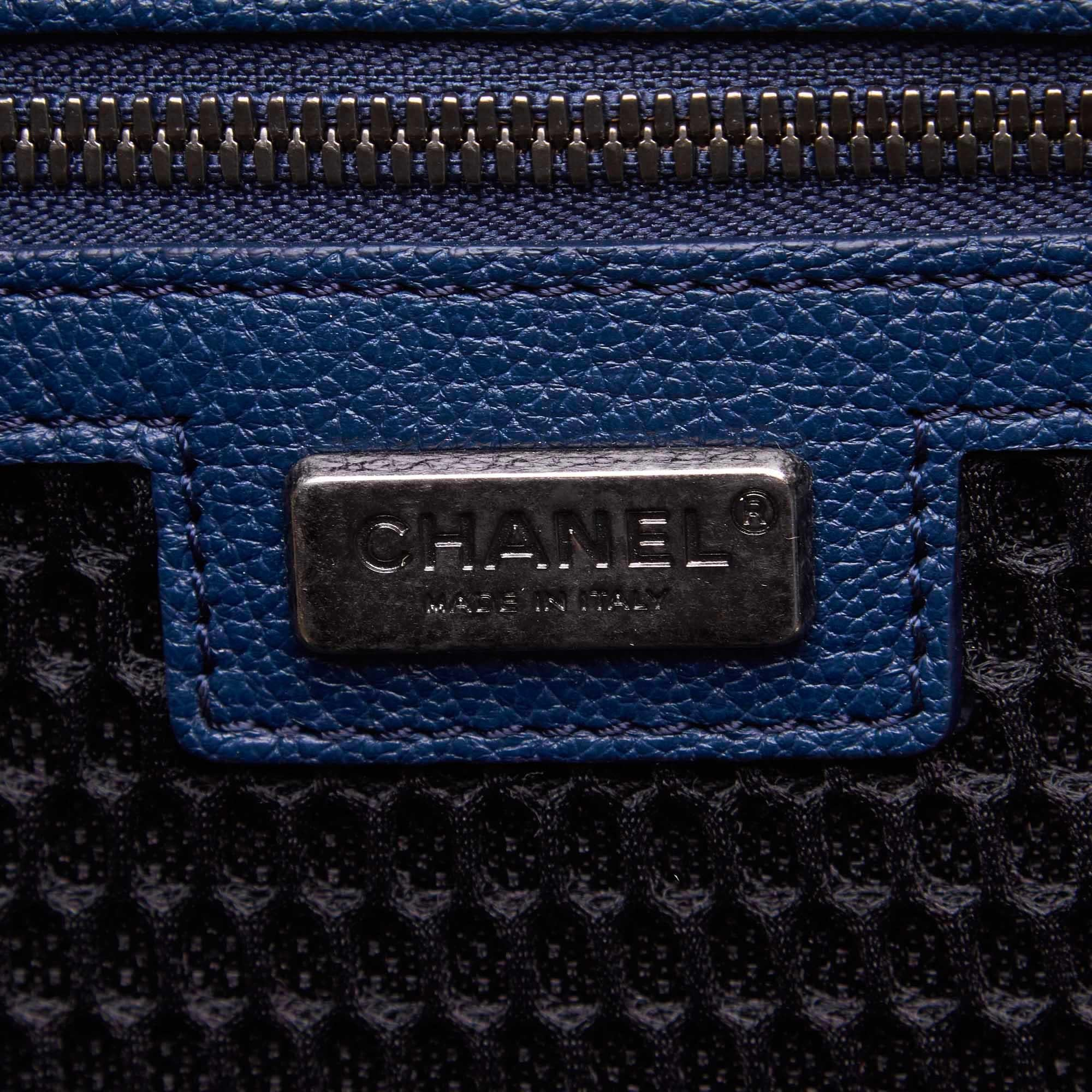 1b88666de194e9 Chanel Blue Caviar Leather Leather Caviar Coco Case Trolley Italy For Sale  at 1stdibs