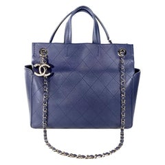 Chanel Blue Caviar Multi Handle Tote