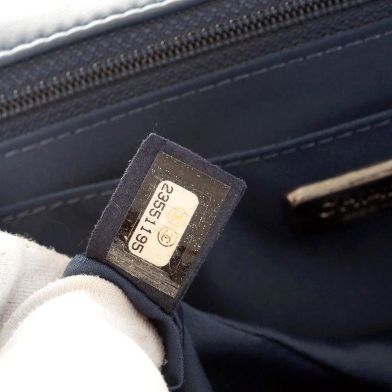 Chanel Blue COCO CUBA Sequins Flap Bag For Sale 6