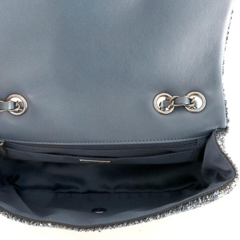 Chanel Blue COCO CUBA Sequins Flap Bag For Sale 1