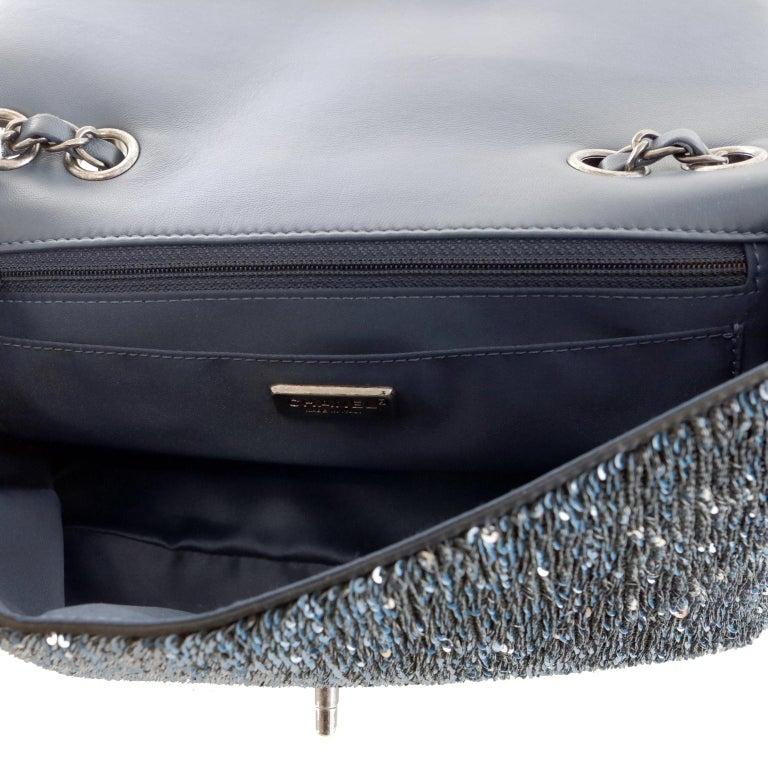 Chanel Blue COCO CUBA Sequins Flap Bag For Sale 2