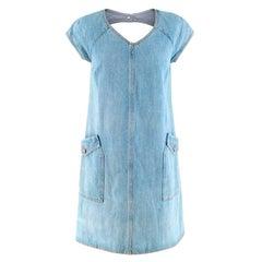 Chanel Blue Denim Cut Out Dress - Size US 4