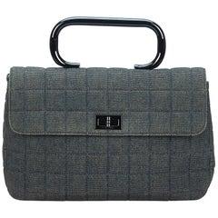 Chanel Blue Denim Handbag