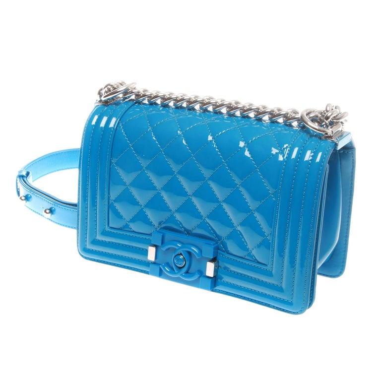 Chanel Blue Electrique Boy Bag