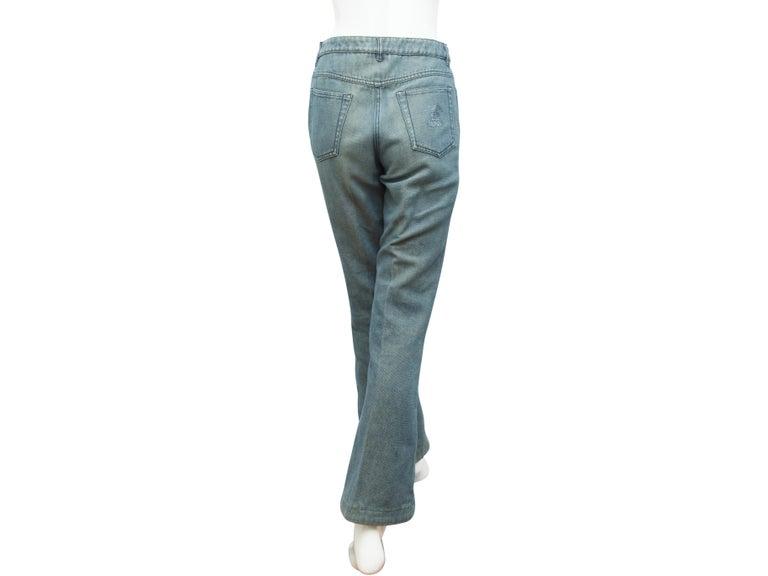 Gray Chanel Blue Embellished Jeans For Sale
