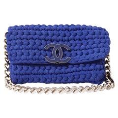 Chanel Blue Fancy Crochet Flap Bag