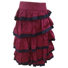 Chanel blue fucsia skirt