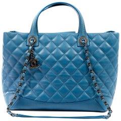 Chanel Blue Lambskin Tote